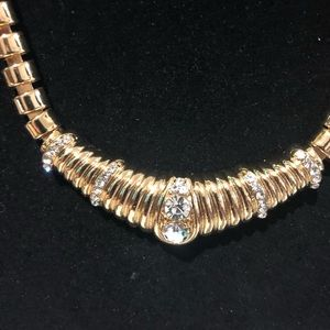 Jewelry - Gold and Diamond Necklace Bracelet and Earrings